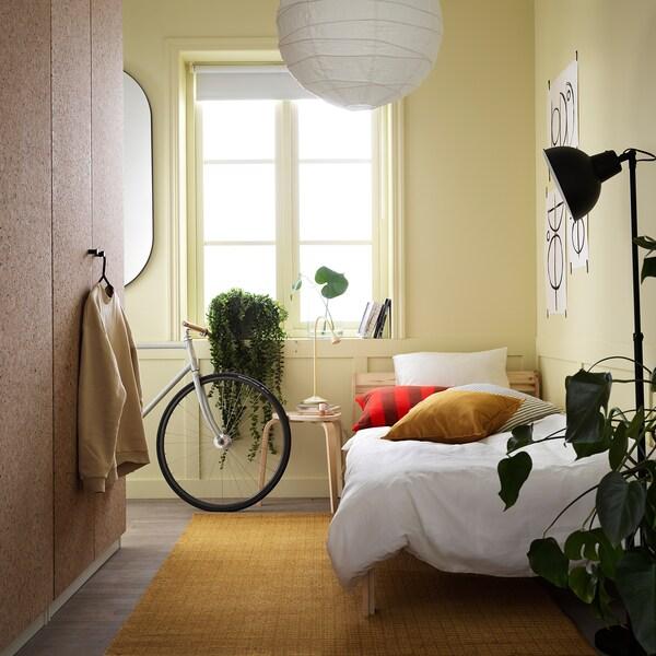 INGALILL Navlaka za jastučić, bela/tamnosiva prugasto, 50x50 cm