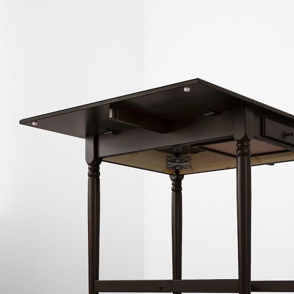 INGATORP Sto na rasklapanje, crnosmeđa, 65/123x78 cm