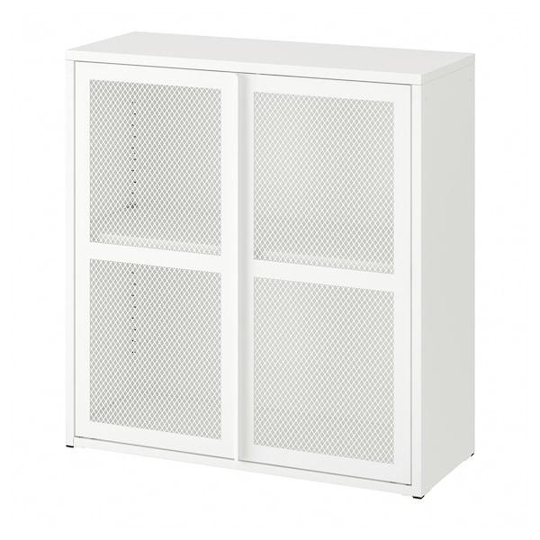 IVAR Ormarić s vratima, bela mreža, 80x83 cm