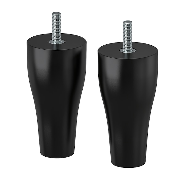 KABBARP Nogar, crna, 10 cm