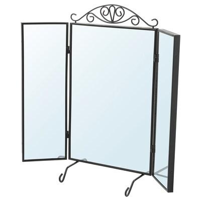 KARMSUND Stono ogledalo, crna, 80x74 cm