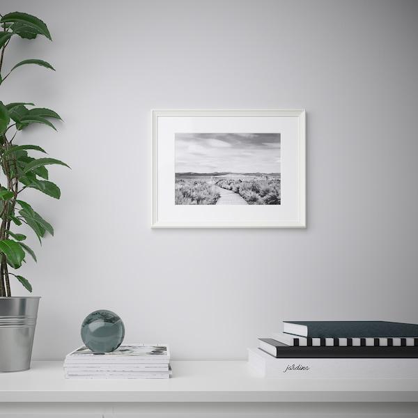 KNOPPÄNG Ram, bela, 30x40 cm