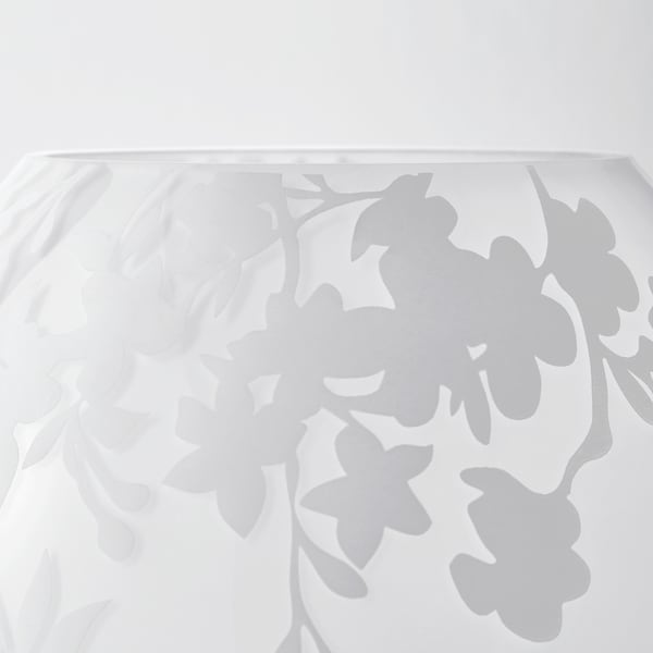 KNUBBIG Stona lampa, cvet trešnje bela, 18 cm