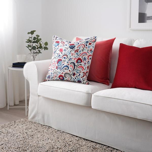 KRATTEN navlaka za jastučić bela/raznobojno 50 cm 50 cm