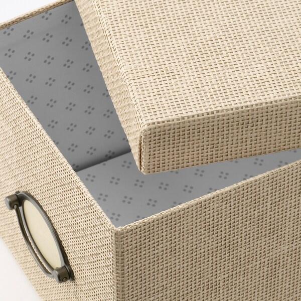 KVARNVIK kutija za odlaganje s poklopcem bež 25 cm 18 cm 15 cm