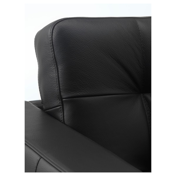 LANDSKRONA Fotelja, Grann/Bomstad crna/metal