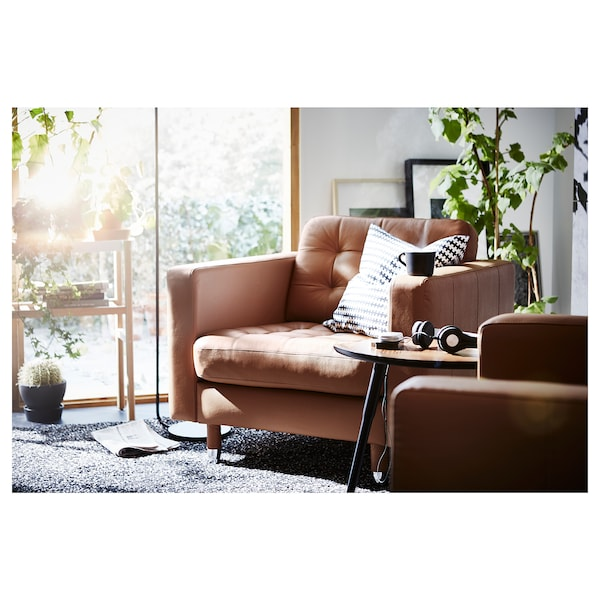 LANDSKRONA Fotelja, Grann/Bomstad zlatnosmeđa/metal