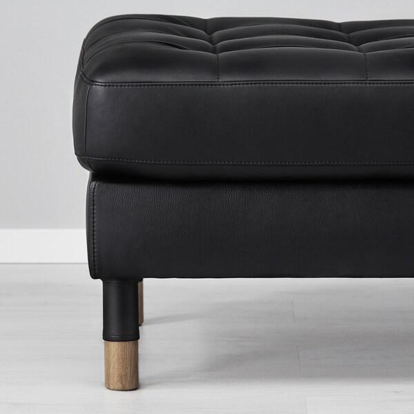 LANDSKRONA Tapecirana stoličica, Grann/Bomstad crna/drvo