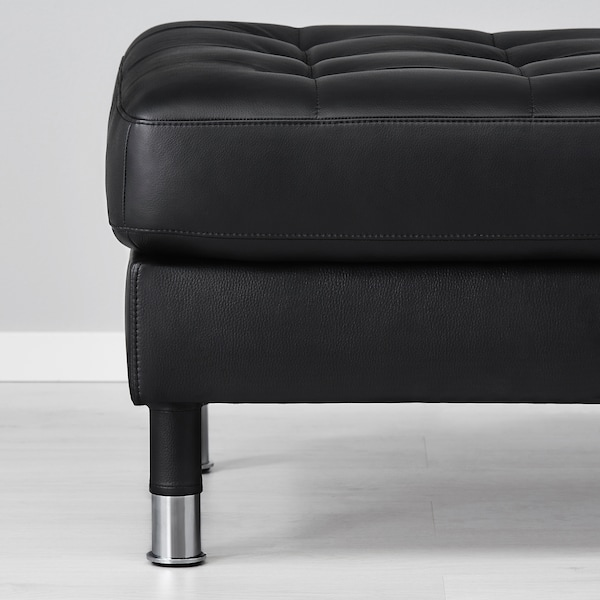 LANDSKRONA Tapecirana stoličica, Grann/Bomstad crna/metal