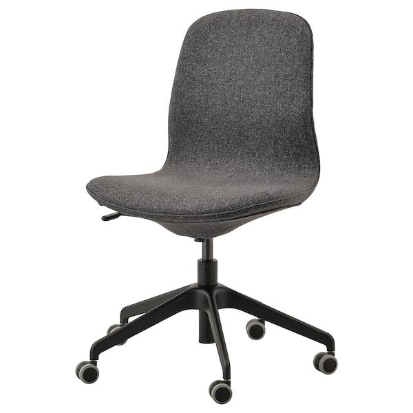 LÅNGFJÄLL kancelarijska stolica Gunnared tamnosiva/crna 110 kg 68 cm 68 cm 92 cm 53 cm 41 cm 43 cm 53 cm