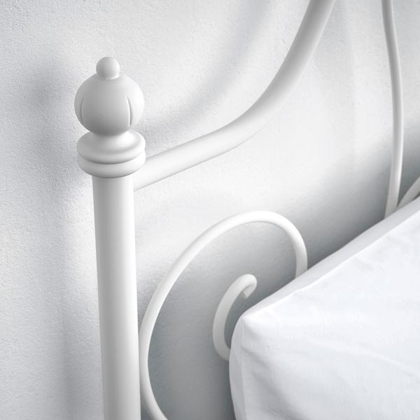 LEIRVIK Okvir kreveta, bela/Luröy, 140x200 cm