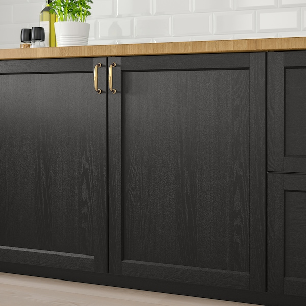 LERHYTTAN Vrata, crno bajcovano, 20x80 cm
