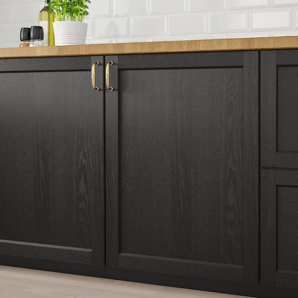 LERHYTTAN Vrata, crno bajcovano, 40x80 cm