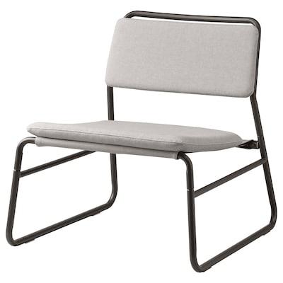 LINNEBÄCK Fotelja bez rukohvata, Orrsta svetlosiva