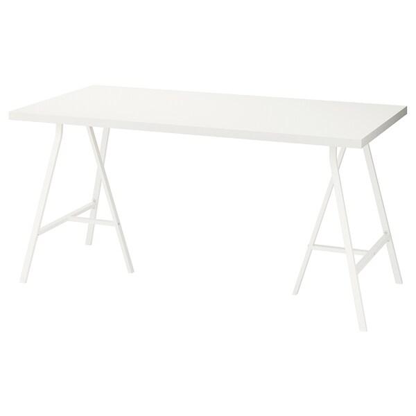 LINNMON / LERBERG Sto, bela, 150x75 cm