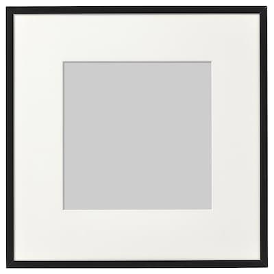 LOMVIKEN Ram, crna, 32x32 cm