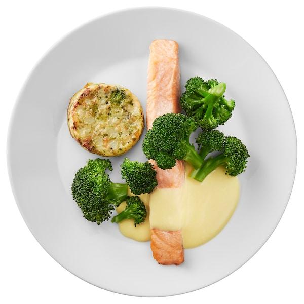 Lososov file, medaljon od povrća holandez sos
