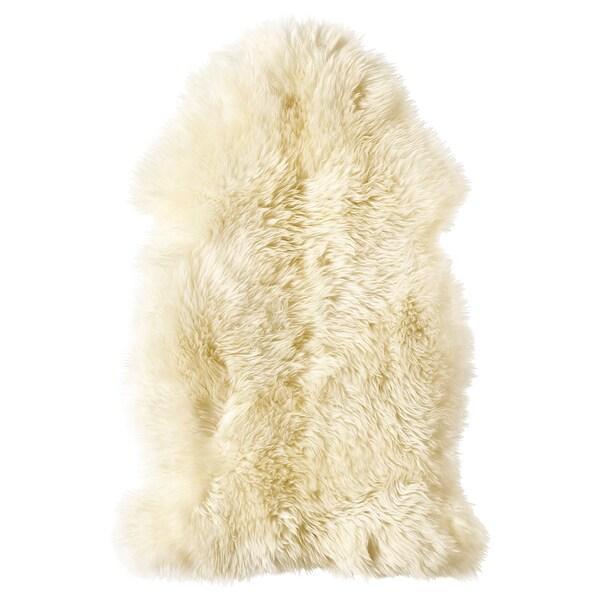 LUDDE Ovčja koža, bela