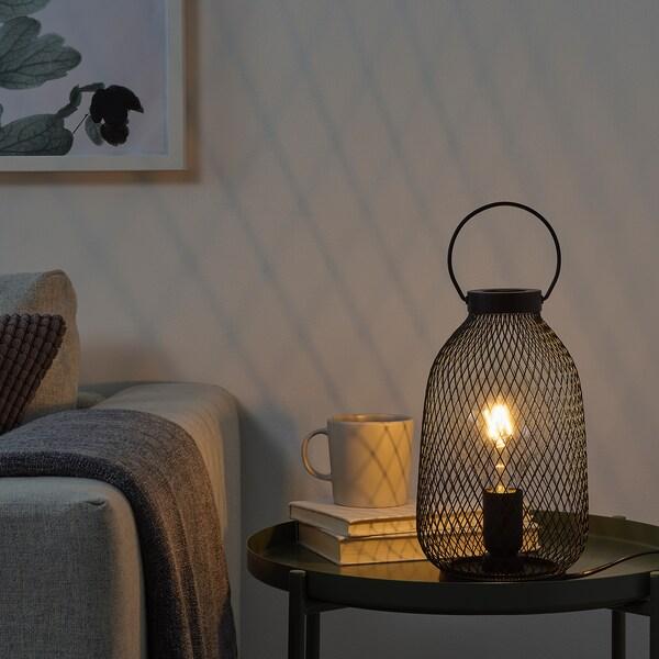 LUFTMASSA Stona lampa, crna metal, 35 cm