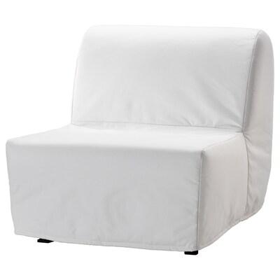 LYCKSELE LÖVÅS fotelja na razvlačenje Ransta bela 80 cm 100 cm 87 cm 60 cm 39 cm 80 cm 188 cm 188 cm 80 cm 10 cm