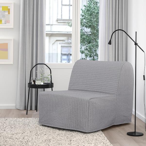 LYCKSELE LÖVÅS Fotelja na razvlačenje, Knisa svetlosiva