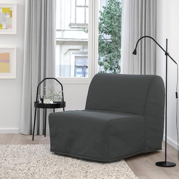 LYCKSELE LÖVÅS Fotelja na razvlačenje, Vansbro tamnosiva