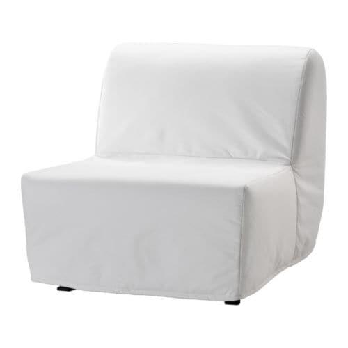 Lycksele Lövås Fotelja Na Razvlačenje Ransta Bela Ikea