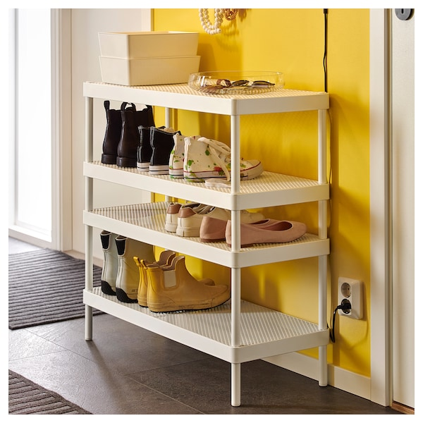 MACKAPÄR Stalak za obuću, bela, 78x32x40 cm