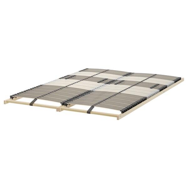 MALM Okvir kreveta,vis. s 4 kut.odlag., smeđe bajcovano jasenov furnir/Leirsund, 160x200 cm