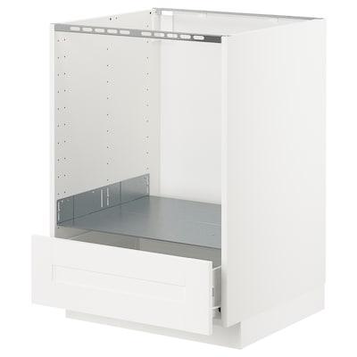 METOD / FÖRVARA Pod.ormarić za pećnicu s fiokom, bela/Sävedal bela, 60x60 cm