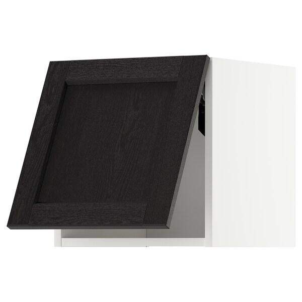 METOD Horiz.zidni elem, otvar. na dodir, bela/Lerhyttan crno bajcovano, 40x40 cm