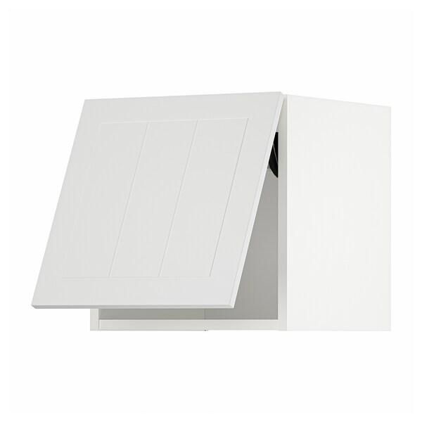 METOD Horiz.zidni elem, otvar. na dodir, bela/Stensund bela, 40x40 cm