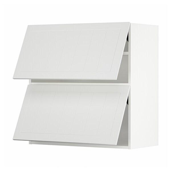 METOD Horizontalni zid.ormarić i 2 vrata, bela/Stensund bela, 80x80 cm