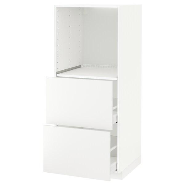 METOD / MAXIMERA vis. elem. s 2 fioke za pećnicu bela/Häggeby bela 60.0 cm 61.6 cm 148.0 cm 60.0 cm 140.0 cm