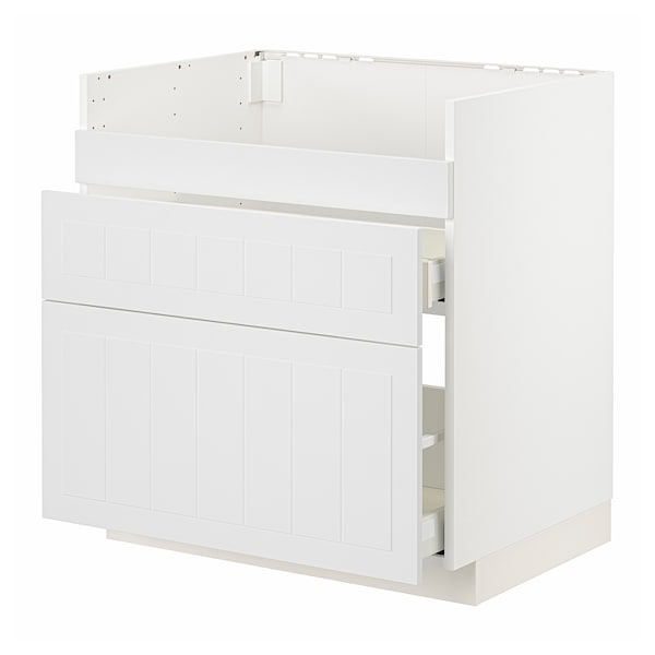 METOD / MAXIMERA Pod.el.BREDSJÖN sudop/3front/2fiok, bela/Stensund bela, 80x60 cm