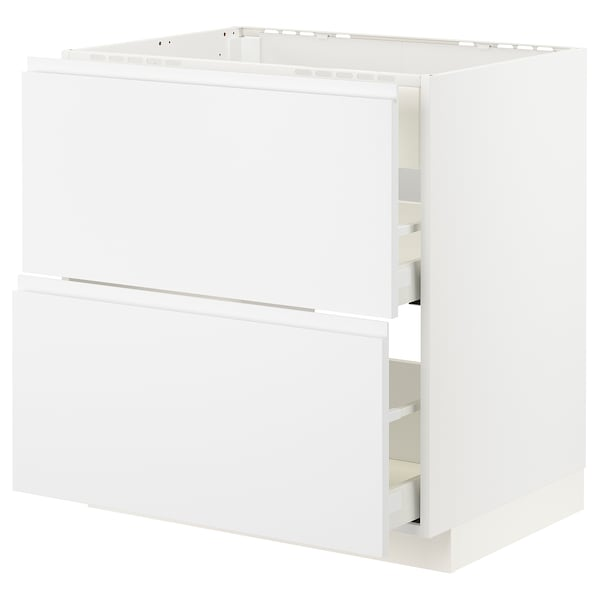 METOD / MAXIMERA Pod.el.za gr.ploču/ug.asp.s fiokom, bela/Voxtorp matirano bela, 80x60 cm