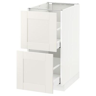 METOD / MAXIMERA Pod.ormarić, 2fronta/2vis.fioke, bela/Sävedal bela, 40x60 cm