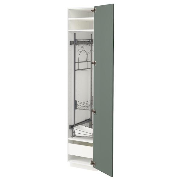 METOD / MAXIMERA Visoki element-ostava, bela/Bodarp sivozelena, 40x60x200 cm