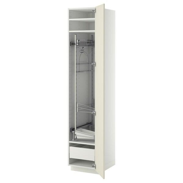 METOD / MAXIMERA Visoki element-ostava, bela/Bodbyn prljavobela, 40x60x200 cm