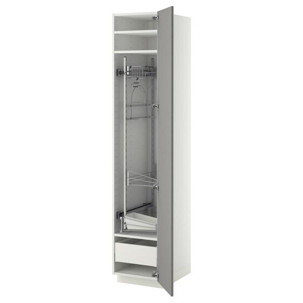 METOD / MAXIMERA Visoki element-ostava, bela/Bodbyn siva, 40x60x200 cm