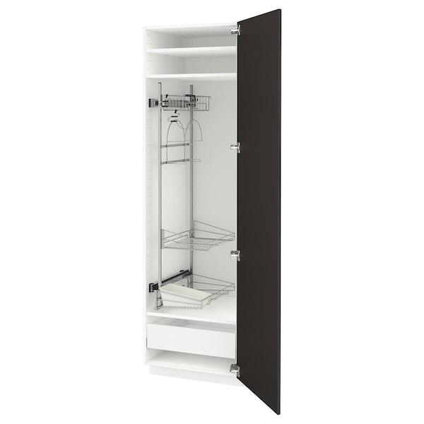 METOD / MAXIMERA Visoki element-ostava, bela/Kungsbacka boja antracita, 60x60x200 cm