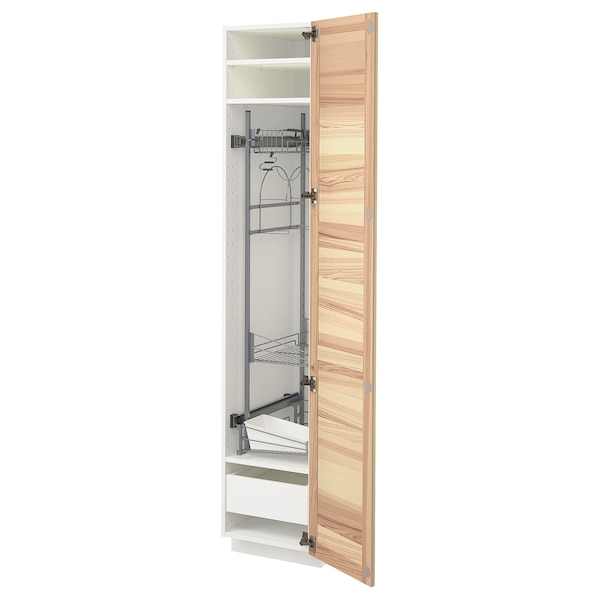 METOD / MAXIMERA Visoki element-ostava, bela/Torhamn jasen, 40x60x200 cm