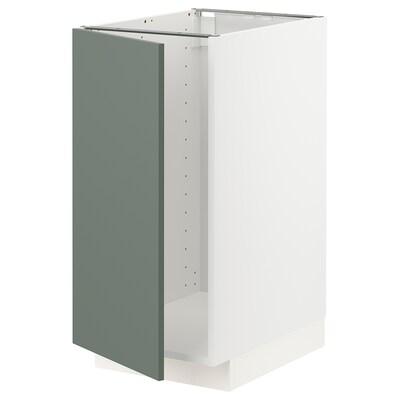 METOD Pod.element i sudopera/sort.otpada, bela/Bodarp sivozelena, 40x60 cm