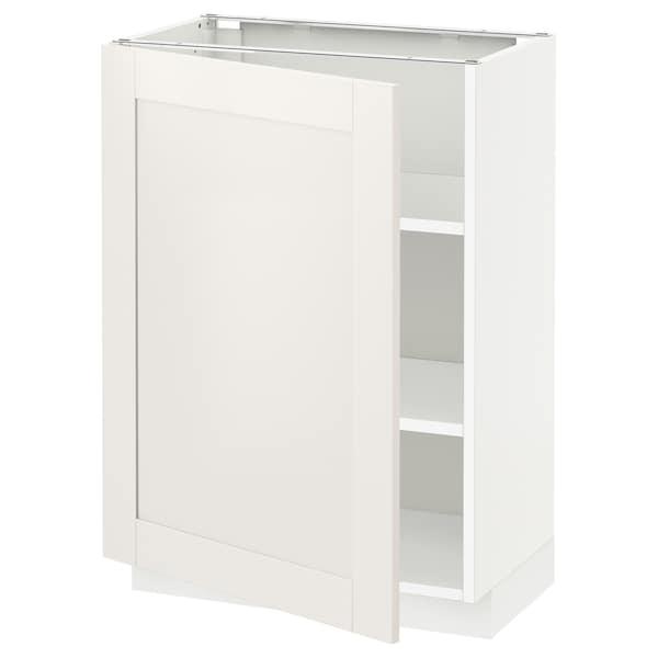 METOD Podni element s policama, bela/Sävedal bela, 60x37 cm