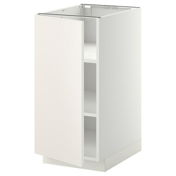 METOD Podni element s policama, bela/Veddinge bela, 40x60 cm