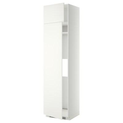 METOD Vis.elem.frižider/zamrzivač 2 fioke, bela/Häggeby bela, 60x60x240 cm