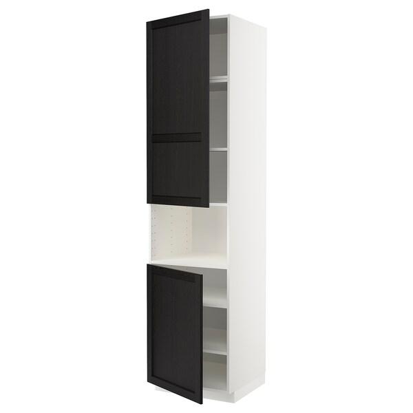 METOD Vis.orm.mikrotal2vrat/policama, bela/Lerhyttan crno bajcovano, 60x60x240 cm