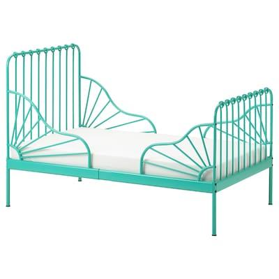 MINNEN Okvir produž.krevet s letv. osnovom, tirkizna, 80x200 cm