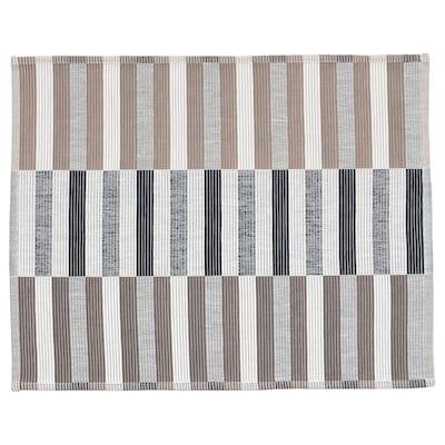 MITTBIT Stoni podmetač, crna bež/bela, 45x35 cm