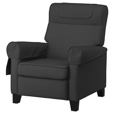 MUREN Fotelja s podnožjem, Remmarn tamnosiva